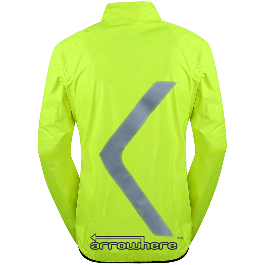 ArroWhere Men's Lightweight High Visibility Reflective Bicycling Jacket