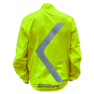 ArroWhere Men's Lightweight Waterproof High Visibility Reflective Bicycling Jacket