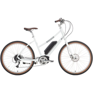"Civia Cycles Civia Parkway Step-Thru eBike - 26"", Aluminum, Coconut White"