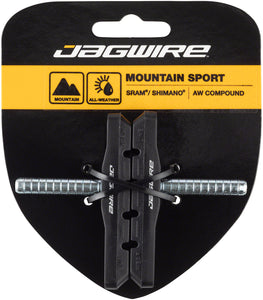 Jagwire Mountain Sport Brake Pads Smooth Post Black  pair