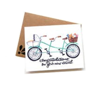 Congratulations Baby Bike Card
