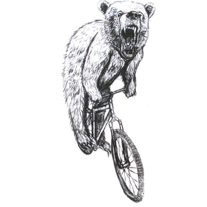 Bear on a Bicycle T-Shirt, Women's
