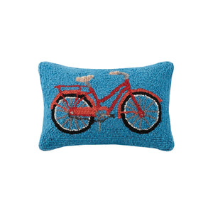 Red Bicycle Accent Pillow
