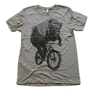 Buffalo on a Bicycle T-Shirt, Men's/Unisex