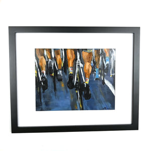 Cycle Legs - Framed, Acrylic on Canvas Original Work by Angelo Cane