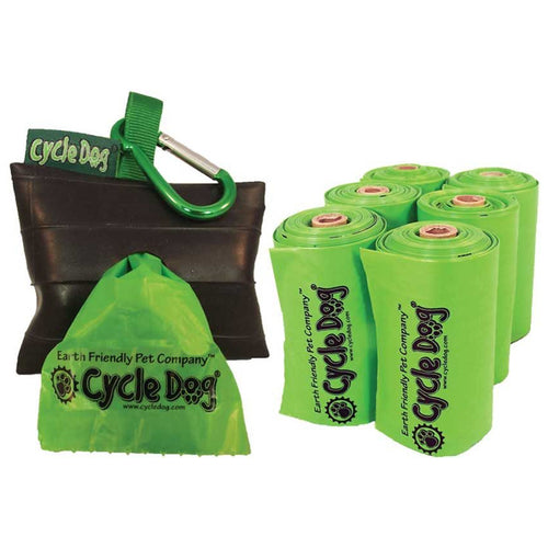 Earth-Friendly Pickup Bags with Park Pouch Holder
