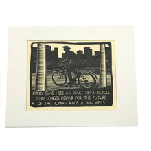 Every Time I See an Adult on a Bicycle Matted Print