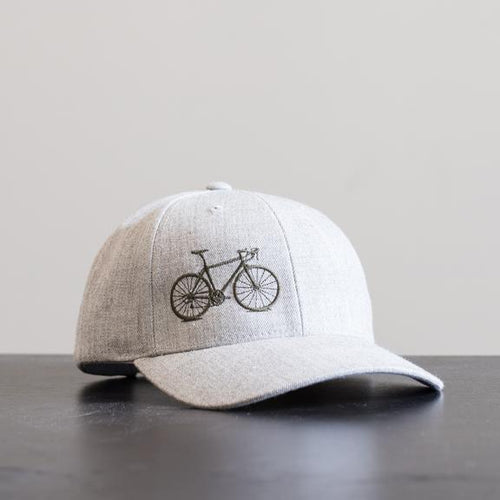 Baseball Cap with Bicycle Embroidery, Acrylic / Wool Blend