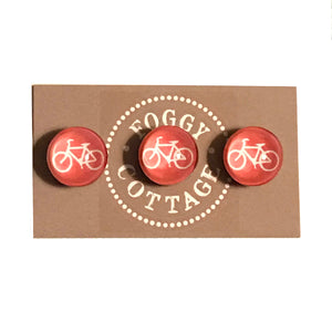 3-Pack Glass Bike Magnets