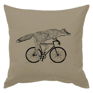 Animal on a Bicycle Pillow