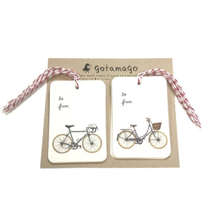 Bicycle-Lover Gift Tags, Set of 10