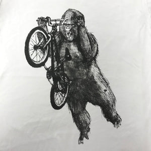 Gorilla on a BMX Bike T-Shirt, Unisex