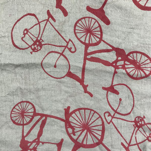 Long Scarf, Large Bike Pattern