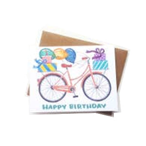 Happy Birthday Bike Card