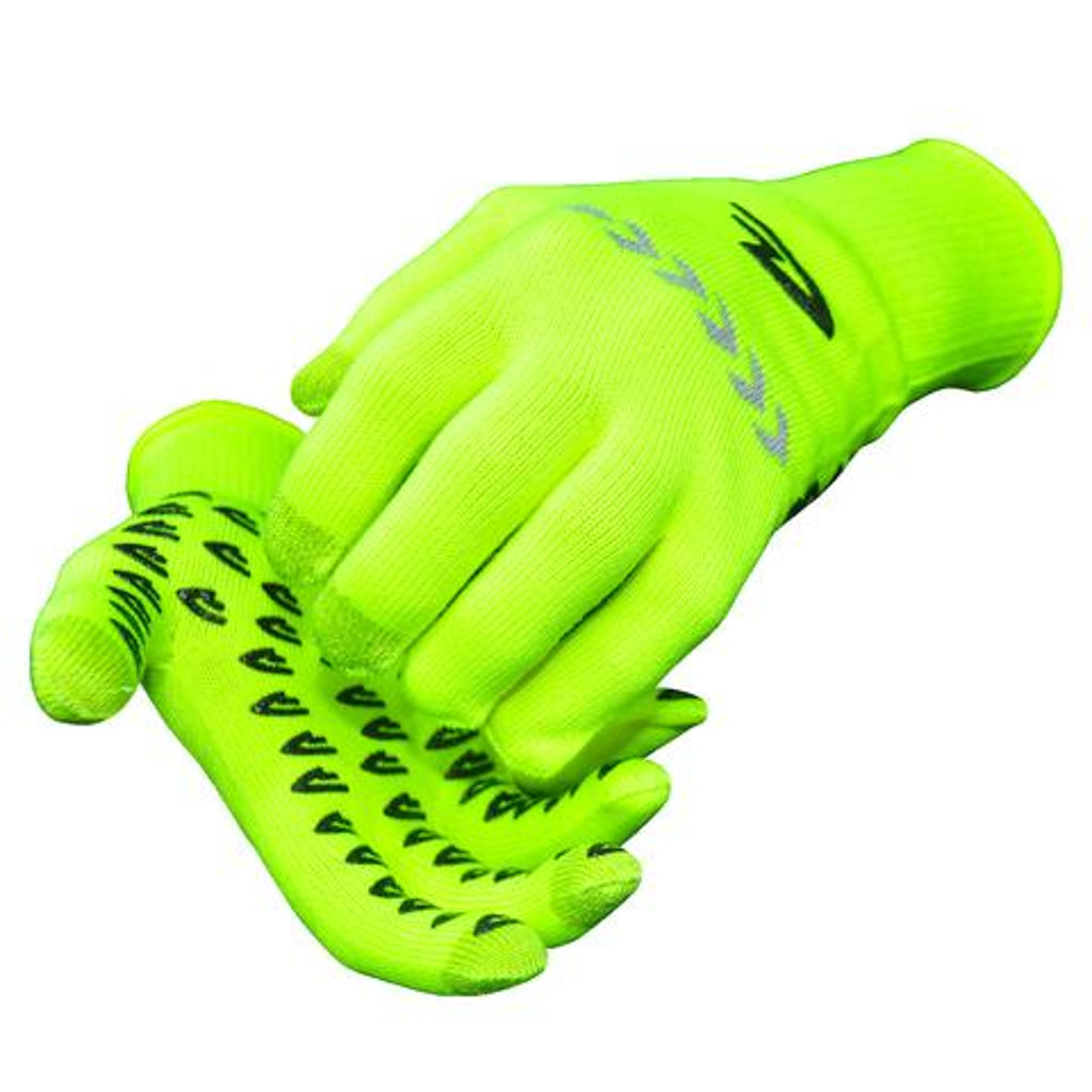 DeFeet DuraGlove ET (Electronic Touch) Hi-Vis Yellow Cordura Gloves with Reflective Arrows