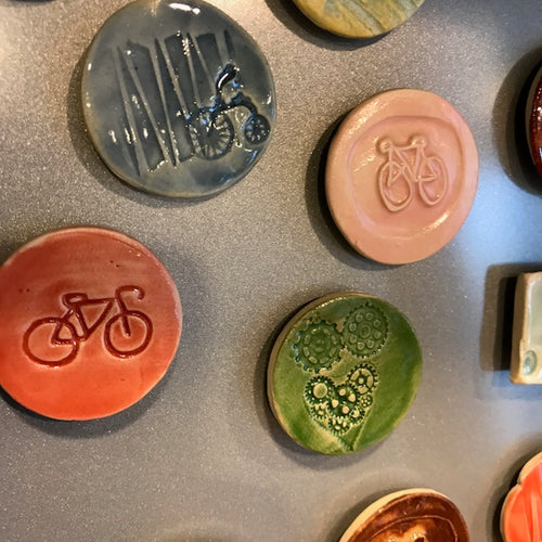 Ceramic Bicycle Magnet