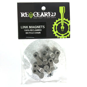 Bike Chain Link Magnets Set of 8