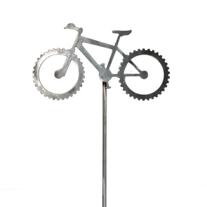 Bicycle-Themed Steel Garden Stake