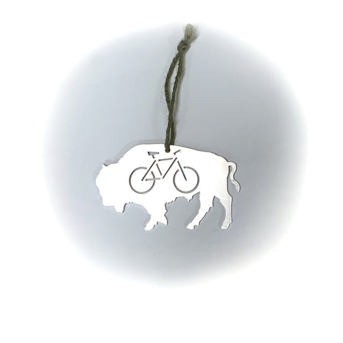 Buffalo Bike Ornament, Aluminum
