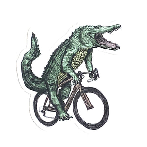 Animals on Bike Vinyl Decal