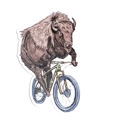 Animal on a Bicycle Vinyl Decal