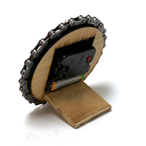 Bicycle Chain and Paw Print Desk Clock