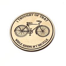 All-In-One Bicycle-Themed Coaster and Magnet
