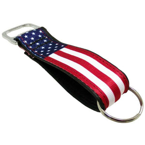 Stars & Stripes Bottle Opener Keychain