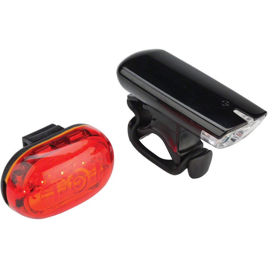 MSW White Bat Headlight and Red Bat Tailight Set