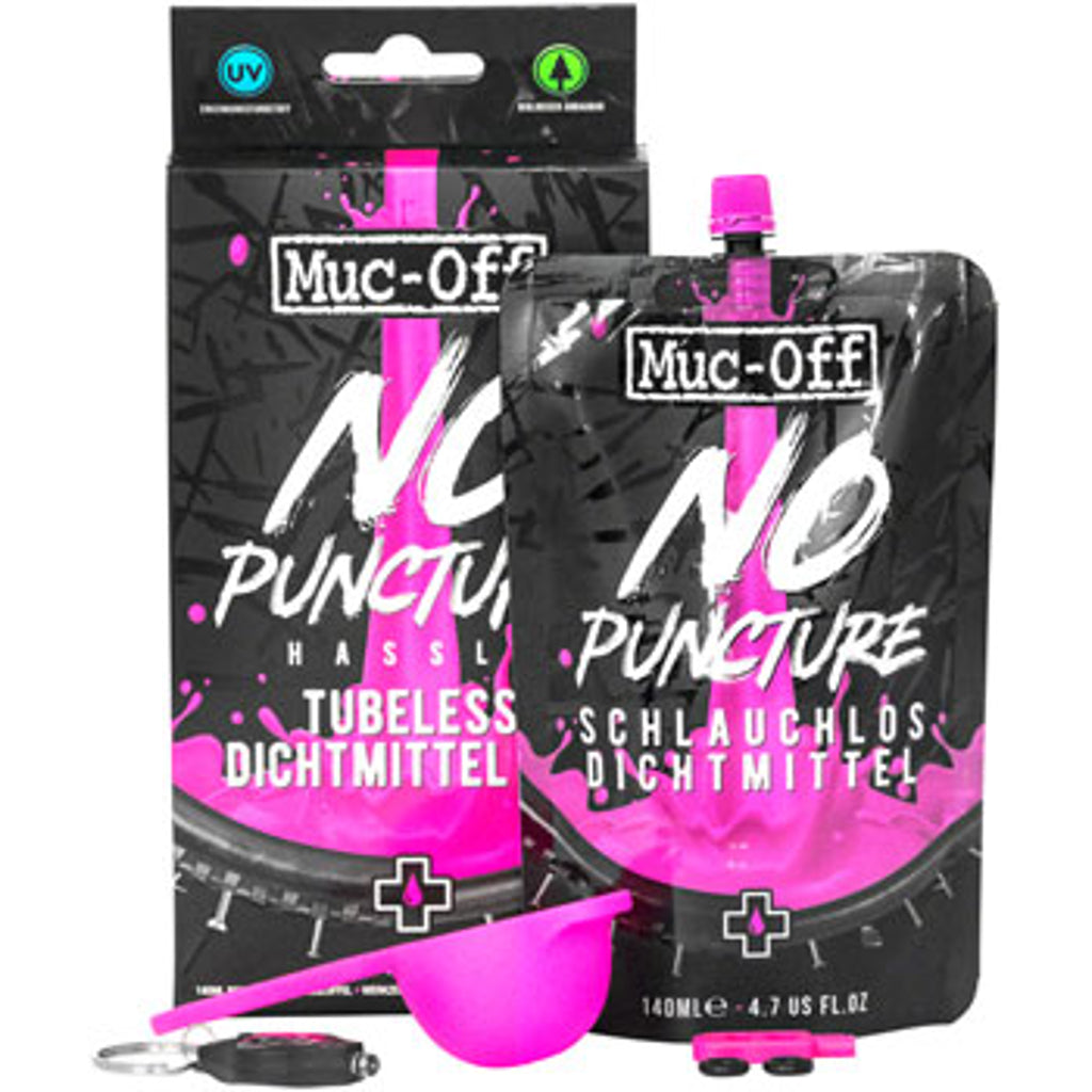 Muc-Off No Puncture Tubeless Tire Sealant Kit, 140 ml