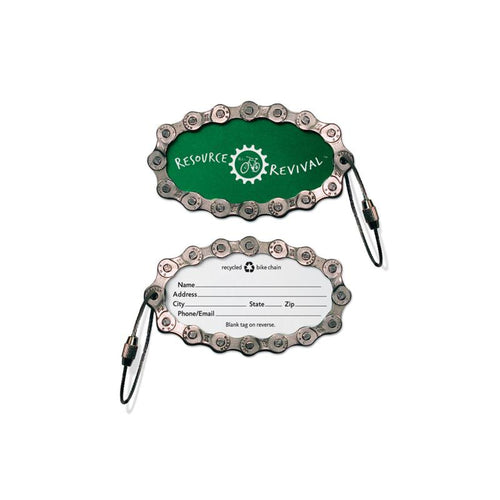 Luggage Tag, Recycled Bike Chain