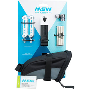 MSW Ride and Repair Kit with Saddlebag and CO2 Cartridges SBG-107