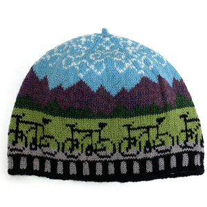 Mountain Bike Hand-Knit Hat