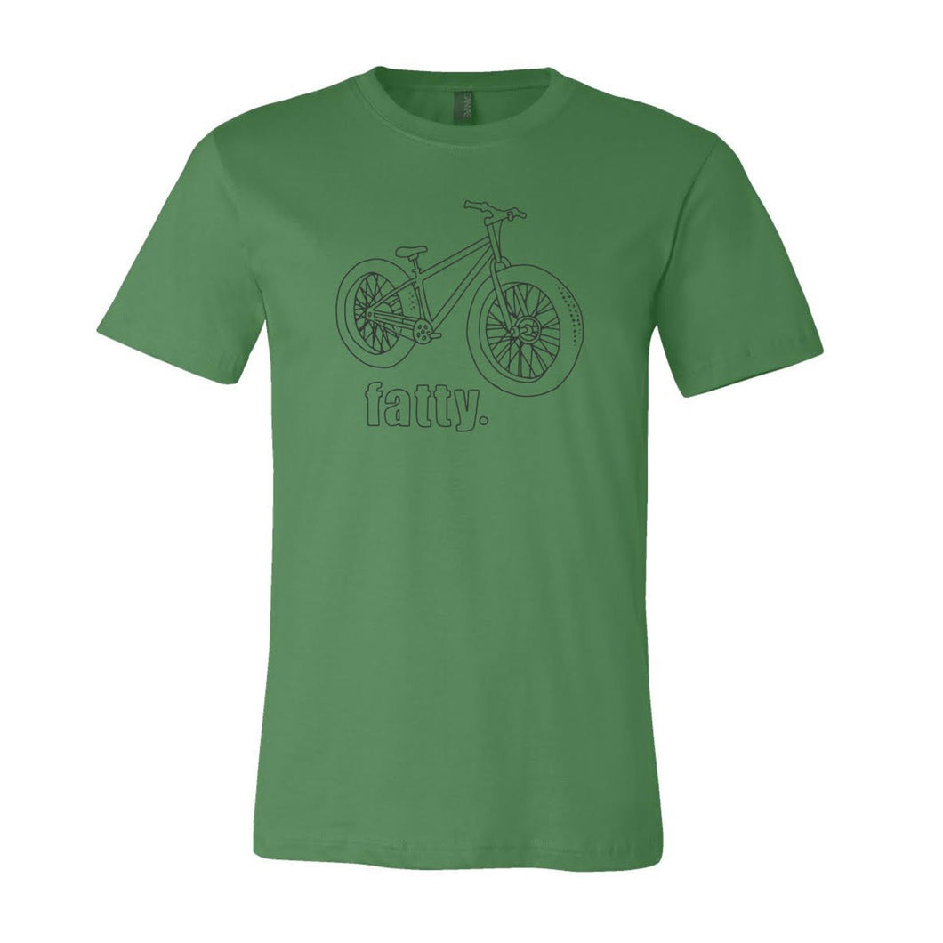 Fatty - Fat Tire Bike T-Shirt, Green, Unisex