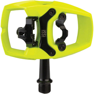 iSSi Flip II Yellow Aluminum Pedals - Single Side Clipless with Platform 9/16""