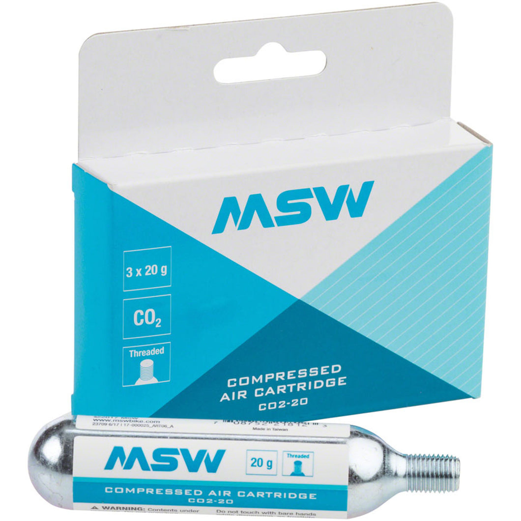 MSW 20g CO2 Cartridge 3-Pack