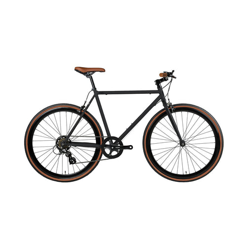 Fyxation Bicycle Company Pixel 7-Speed - Matte Black (aka Black & Tan)