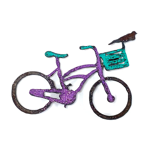 Reclaimed Metal Bike Ornament