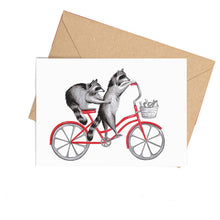 Animals Riding a Bicycle Card
