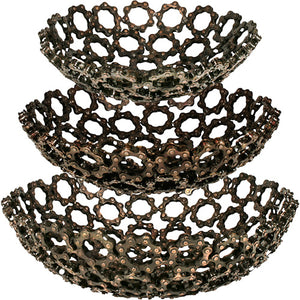 Decorative Recycled Bicycle Chain Bowl