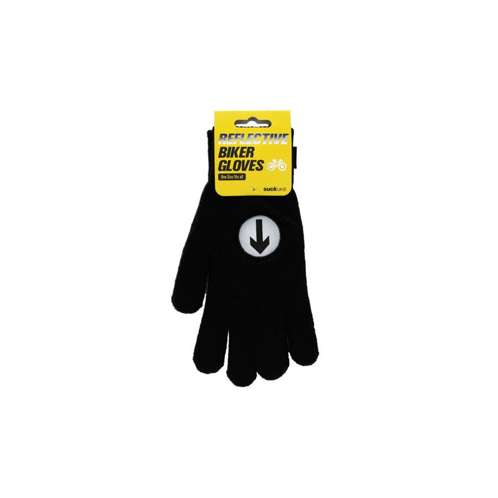 Reflective Biker Gloves, One Size Fits All