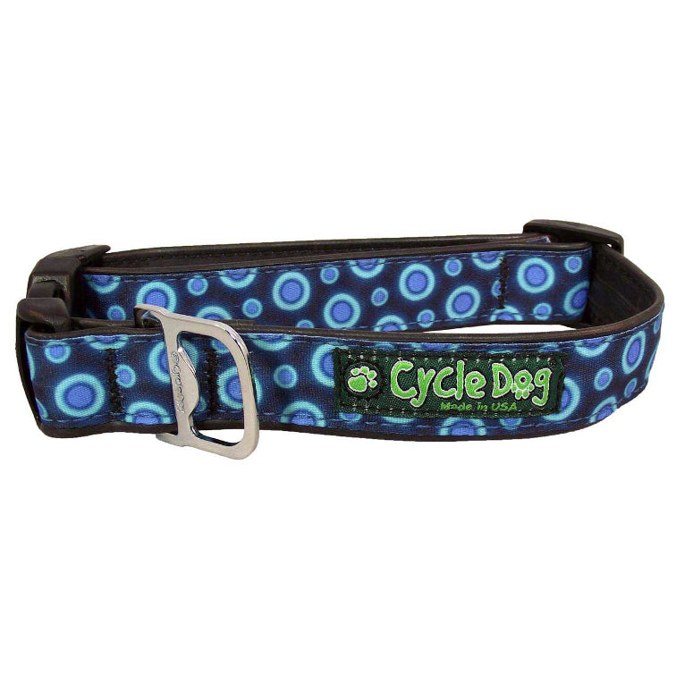 Blue Space Dots Dog Collar