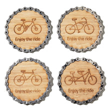 Bike Themed Coasters - set of four