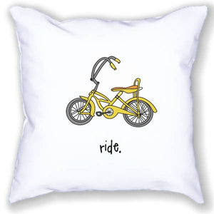 Whimsical Bike Pillow