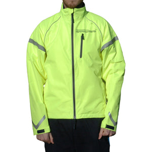 ArroWhere Men's Waterproof High Visibility Reflective Bicycling Jacket