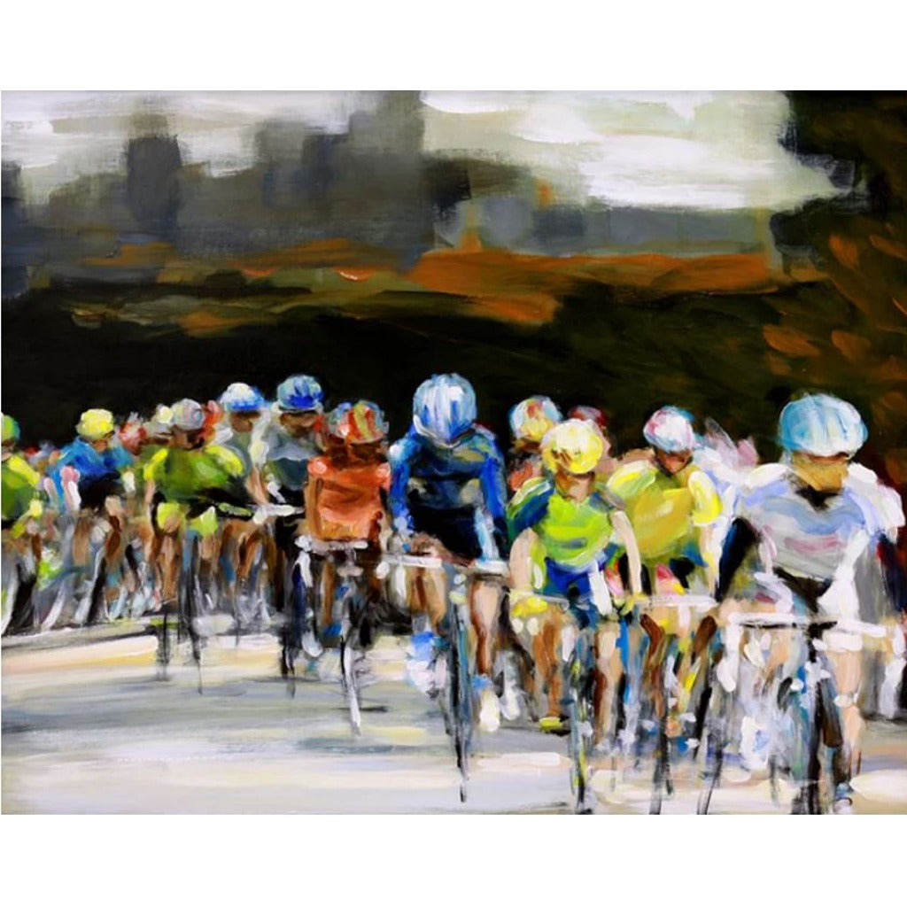 Saturday Race - Matted Print of Original Work by Angelo Cane