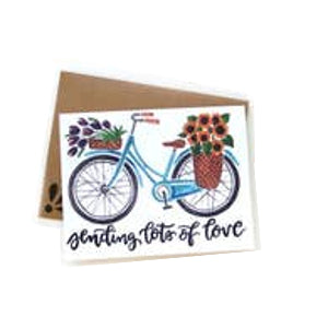 Sending Lots of Love Bike Card