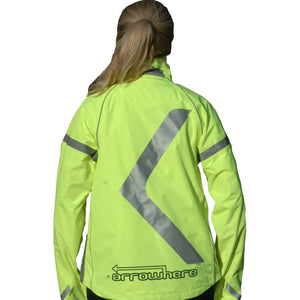 ArroWhere Women's Waterproof High Visibility Reflective Bicycling Jacket