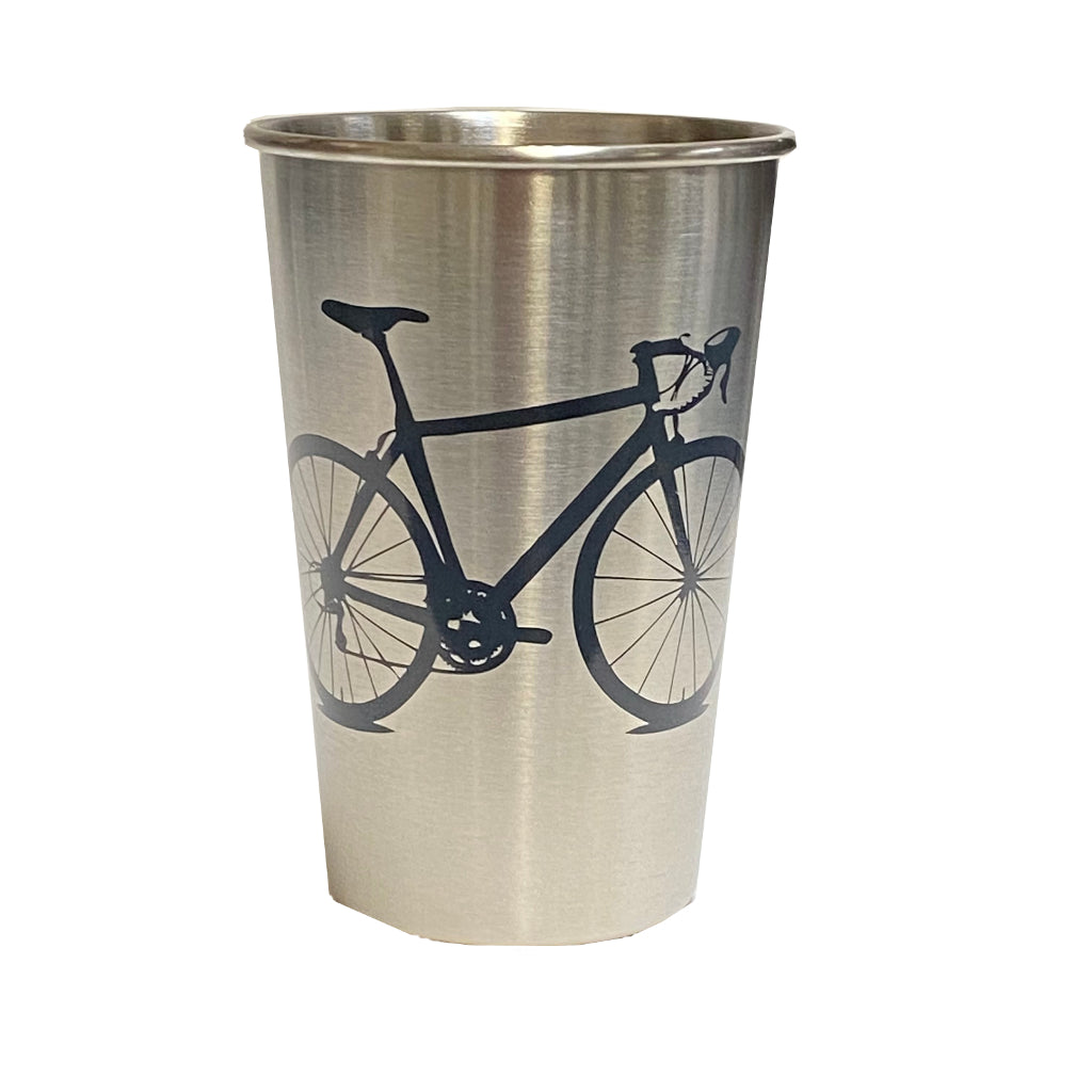Bicycle Stainless Steel Pint Tumbler