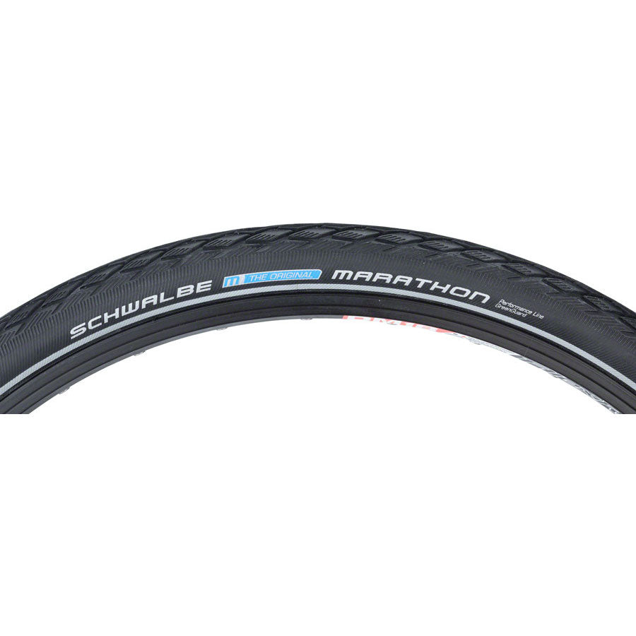 Schwalbe Marathon Tire - 700 x 35, Clincher, Wire, Black/Reflective, Performance Line